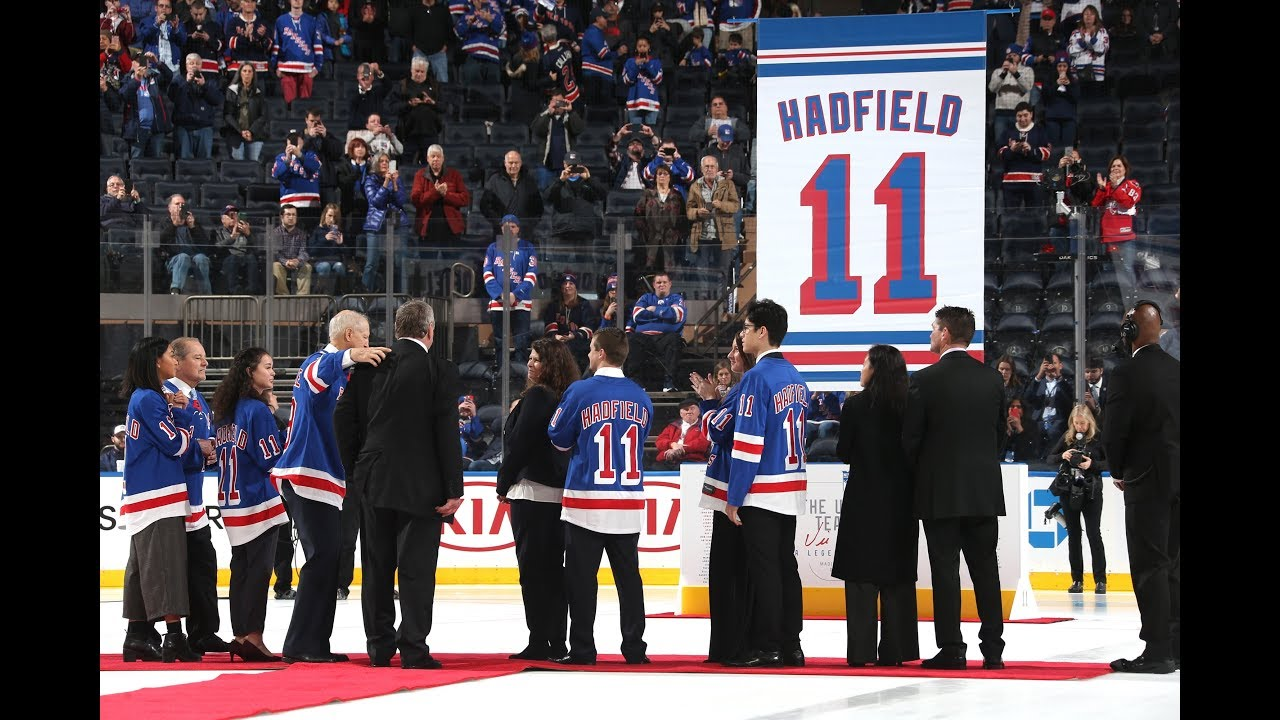 6695dfac246 VIC HADFIELD'S #11 RETIRED BY RANGERS